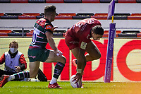26th September 2020; Toulon, France; European Challenge Cup Rugby, semi-final; RC Toulon versus Leicester Tigers;  Bryce Heem (RC Toulon) touches down for a try
