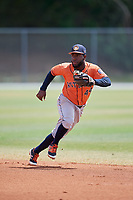 Houston Astros Marcos Almonte (44) during a Minor League Spring Training game against the St. Louis Cardinals on March 27, 2018 at the Roger Dean Stadium Complex in Jupiter, Florida.  (Mike Janes/Four Seam Images)