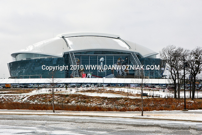 Cowboys Stadium during Super Bowl Weekend- ICE