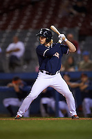 Connecticut Tigers outfielder Joey Havrilak (48) at bat during the second game of a doubleheader against the Brooklyn Cyclones on September 2, 2015 at Senator Thomas J. Dodd Memorial Stadium in Norwich, Connecticut.  Connecticut defeated Brooklyn 2-1.  (Mike Janes/Four Seam Images)