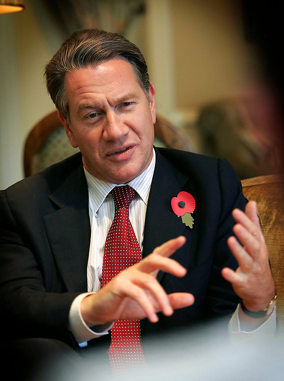 Michael Portillo MP, pictured prior to addressing the Thomas Byrne & Co Solicitors Corporate Forum in the Four Seasons hotel Dublin today. Pic Robbie Reynolds