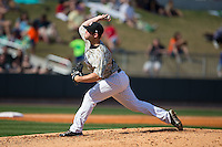 Birmingham Barons relief pitcher Tyler Barnette (44) in action against the Tennessee Smokies at Regions Field on May 3, 2015 in Birmingham, Alabama.  The Smokies defeated the Barons 3-0.  (Brian Westerholt/Four Seam Images)