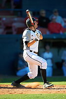 Wisconsin-Milwaukee Panthers third baseman Nick Unes (4) at bat during a game against the Bethune-Cookman Wildcats on February 26, 2016 at Chain of Lakes Stadium in Winter Haven, Florida.  Wisconsin-Milwaukee defeated Bethune-Cookman 11-0.  (Mike Janes/Four Seam Images)