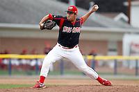 Batavia Muckdogs pitcher Danny Miranda #40 during a game against the Auburn Doubledays at Dwyer Stadium on September 4, 2011 in Batavia, New York.  Batavia defeated Auburn 4-2.  (Mike Janes/Four Seam Images)