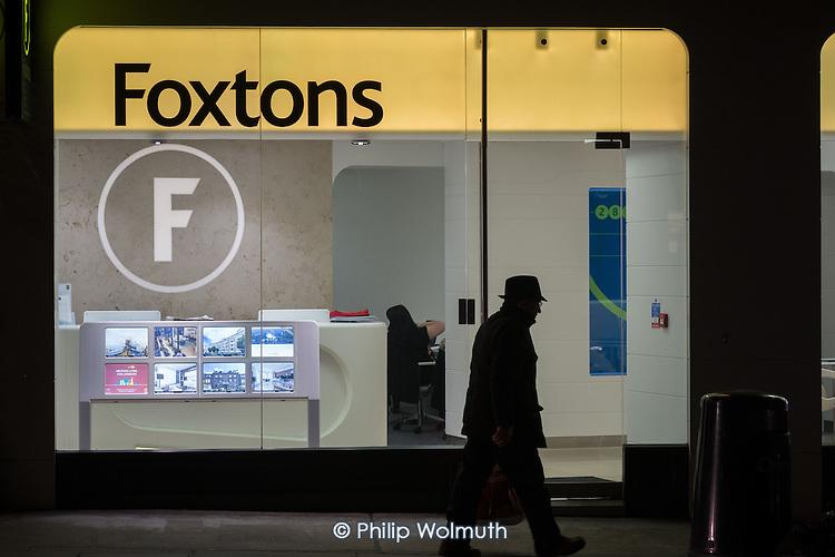 Foxtons estate agent office, Camden, London