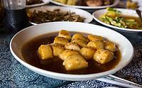 Linkeng, Zhejiang, China.  Glutinous Rice for Lunch.