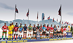The captains of all 28 teams participating in this year's Cathay Pacific / HSBC Hong Kong on 20 March 2013 in Hong Kong, China . Photo by Victor Fraile / The Power of Sport Images