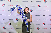Los Angeles, CA - Thursday January 12, 2017: Morgan Andrews during the 2017 NWSL College Draft at JW Marriott Hotel.