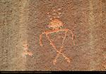 Anasazi Shaman Figure, Eye of the Sun Petroglyph Wall, Monument Valley Navajo Tribal Park, Navajo Nation Reservation, Utah/Arizona Border