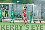Kerry keeper Gavin O'Brien punches another Cork City effort out for a corner kick in the SSE Airtricity U17 League