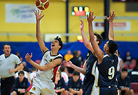 Action from the 2019 Schick AA Boys' Secondary Schools Basketball Premiership National Championship match between Hamilton Boys' High School and Tauranga Boys' High School at the Central Energy Trust Arena in Palmerston North, New Zealand on Monday, 30 September 2019. Photo: Dave Lintott / lintottphoto.co.nz