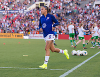 PASADENA, CA - AUGUST 4: Mallory Pugh #3 enters the field during a game between Ireland and USWNT at Rose Bowl on August 3, 2019 in Pasadena, California.