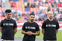 SANDY, UT - JUNE 10: Antonee Robinson, Sebastian Lletget, Tim Ream of the United States during a game between Costa Rica and USMNT at Rio Tinto Stadium on June 10, 2021 in Sandy, Utah.