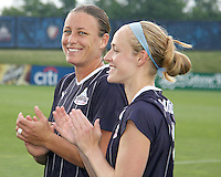 \w20 and Becky Sauerbrunn #22 of the Washington Freedom during a WPS match against the Chicago Red Stars at the Maryland Soccerplex, in Boyds Maryland on June 12 2010. The game ended in a 2-2 tie.