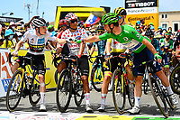 10th July 2021; Carcassonne, France;  VINGEGAARD Jonas (DEN) of JUMBO-VISMA, QUINTANA Nairo (COL) of TEAM ARKEA - SAMSIC, POGACAR Tadej (SLO) of UAE TEAM EMIRATES and CAVENDISH Mark (GBR) of DECEUNINCK - QUICK-STEP  during stage 14 of the 108th edition of the 2021 Tour de France cycling race, a stage of 183,7 kms between Carcassonne and Quillan.