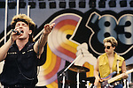 Various live photographs of the rock band, U2