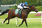 Aruna & Ramon Dominguez win the Grade II Sheepshead Bay Stakes for fillies & mares, 3 year old & up, going 1 1/8 mile on the inner turf at Belmont Park.  Trainer Graham Motion.  Owner Flaxman Holdings Ltd.