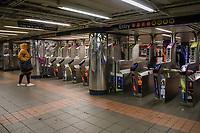 NOVA YORK, EUA, 23.03.2020 - CORONAVIRUS-EUA - Movimento no Path durante o periodo da pandemia de Coronaviru Covid-19 em Nova York nos Estados Unidos. (Foto: Vanessa Carvalho/Brazil Photo Press)