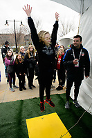 Harrison, NJ - Sunday March 04, 2018: Jump during a 2018 SheBelieves Cup match match between the women's national teams of the United States (USA) and France (FRA) at Red Bull Arena.