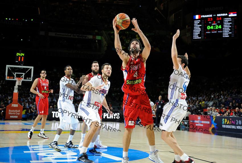 SERBIA - FRANCE  BASKETBALL WORLD CUP SPAIN MADRID<br /> friday  September 12. 2014. semifinal polufinale srbija - francuska Milos Teodosic