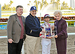 07 February 2010:  Bim Bam with jockey Eibar Coa wins the The Hallandale Beach Stakes trainer David Brown and owner JD Farms at Gulfstream Park in Hallandale Beach, FL.
