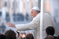 Pope Francis during his weekly general audience in St. Peter square at the Vatican, Wednesday.January 8, 2014.