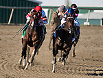 BENSALEM, PA -SEPTEMBER 24: Songbird #5 (red cap), ridden by Mike Smith, wins the Cotillion Stakes on Pennsylvania Derby Day at Parx Racing and Casino on September 24, 2016 in Bensalem, PA. (Photo by Dan Heary/Eclipse Sportswire/Getty Images)