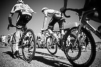 Tom Dumoulin (NLD/Giant-Alpecin) & Simon Geschke (DEU/Giant-Alpecin) up the Lacets du Grand Colombier (Cat1/891m/8.4km/7.6%)<br /> <br /> stage 15: Bourg-en-Bresse to Culoz (160km)<br /> 103rd Tour de France 2016