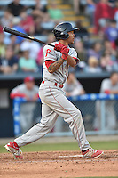 Lakewood BlueClaws shortstop J.P. Crawford #2 swings at a pitch during a game against the Asheville Tourists at McCormick Field on May 3, 2014 in Asheville, North Carolina. The BlueClaws defeated the Tourists 7-4. (Tony Farlow/Four Seam Images)