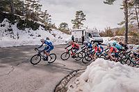 Tim Declercq (BEL/Quick-Step Floors) leading the peloton<br /> <br /> 76th Paris-Nice 2018<br /> stage 6: Sisteron > Vence (198km)