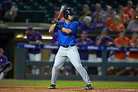 Max Miller (5) of the Duke Blue Devils at bat against the Clemson Tigers in Game Three of the 2017 ACC Baseball Championship at Louisville Slugger Field on May 23, 2017 in Louisville, Kentucky. The Blue Devils defeated the Tigers 6-3. (Brian Westerholt/Four Seam Images)