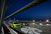 2017 NASCAR Camping World Truck Series - Active Pest Control 200<br /> Atlanta Motor Speedway, Hampton, GA USA<br /> Saturday 4 March 2017<br /> Christopher Bell and Matt Crafton restart<br /> World Copyright: Barry Cantrell/LAT Images<br /> ref: Digital Image 17ATLbc3690