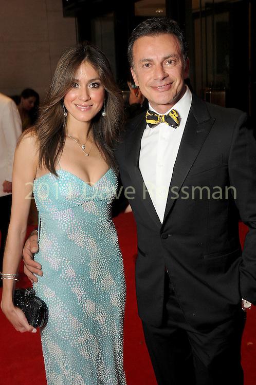 "Heidi Kashani and Monsour Taghdisi at the 2016 Houston Symphony Gala ""Carnaval"" at Jones Hall Saturday May 14,2016(Dave Rossman Photo)"