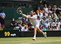 3rd July 2021; Wimbledon, SW London. England; Wimbledon Tennis Championships, day 6;  Cameron Norrie , GBR
