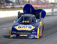 May 16, 2015; Commerce, GA, USA; NHRA funny car driver Ron Capps during qualifying for the Southern Nationals at Atlanta Dragway. Mandatory Credit: Mark J. Rebilas-USA TODAY Sports