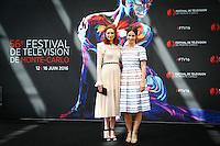 FESTIVAL TELEVISION DE MONTE CARLO - PHOTOCALL 'POLDARK' AVEC ELEANOR TOMLINSON, HEIDA REED