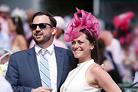 30th April 2021; Kentucky, USA;  A couple enjoys their time together during Oaks Day on April 30th, 2021 at Church Hill Downs in Louisville, KT.