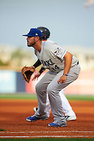 Biloxi Shuckers first baseman Nick Ramirez (14) during the second game of a double header against the Pensacola Blue Wahoos on April 26, 2015 at Pensacola Bayfront Stadium in Pensacola, Florida.  Pensacola defeated Biloxi 2-1.  (Mike Janes/Four Seam Images)