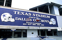 Irving, Texas. Texas stadium home of the Dallas Cowboys