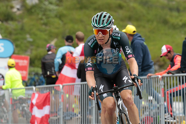 Wilco Kelderman (NED) Bora-Hansgrohe on the final climb of Luz-Ardiden during Stage 18 of the 2021 Tour de France, running 129.7km from Pau to Luz-Ardiden, France. 15th July 2021.  <br /> Picture: Colin Flockton | Cyclefile<br /> <br /> All photos usage must carry mandatory copyright credit (© Cyclefile | Colin Flockton)