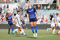 CARY, NC - SEPTEMBER 12: Amy Rodriguez #12 of the North Carolina Courage reacts after her shot was saved during a game between Portland Thorns FC and North Carolina Courage at Sahlen's Stadium at WakeMed Soccer Park on September 12, 2021 in Cary, North Carolina.
