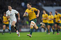 Bernard Foley of Australia runs in his try during the QBE International match between England and Australia at Twickenham Stadium on Saturday 29th November 2014 (Photo by Rob Munro)