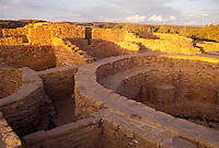 AJ3862, Mesa Verde, Mesa Verde National Park, ruin, Archeological, Colorado, Golden early morning light on Far View Ruins in Mesa Verde Nat'l Park in the state of Colorado.
