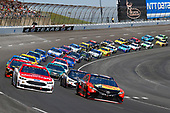 2017 Monster Energy NASCAR Cup Series<br /> O'Reilly Auto Parts 500<br /> Texas Motor Speedway, Fort Worth, TX USA<br /> Sunday 9 April 2017<br /> Martin Truex Jr, Bass Pro Shops/TRACKER BOATS Toyota Camry and Ryan Blaney<br /> World Copyright: Russell LaBounty/LAT Images<br /> ref: Digital Image 17TEX1rl_5147
