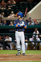 Dunedin Blue Jays Cavan Biggio (24) bats during the Florida State League All-Star Game on June 17, 2017 at Joker Marchant Stadium in Lakeland, Florida.  FSL North All-Stars defeated the FSL South All-Stars  5-2.  (Mike Janes/Four Seam Images)