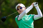 CHON BURI, THAILAND - FEBRUARY 18:  Na Yeon Choi of South Korea tees off on the 17th hole during day two of the LPGA Thailand at Siam Country Club on February 18, 2011 in Chon Buri, Thailand. Photo by Victor Fraile / The Power of Sport Images