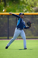 Tampa Bay Rays Jose Rojas (86) during a minor league Spring Training intrasquad game on April 1, 2016 at Charlotte Sports Park in Port Charlotte, Florida.  (Mike Janes/Four Seam Images)
