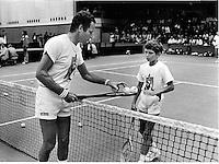 15-07-1982, England, London, Dunlop McEnroe day, Tom Okker (NED) with Richard Krajicek (NED)