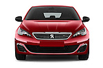 Car photography straight front view of a 2015 Peugeot 308 GT 5 Door Hatchback Front View