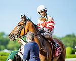 JUNE 04, 2021 : Baron Samedi (GB) with John Velazquez aboard, wins the Gr.2  Belmont Gold Cup Stakes, at 2 miles on the turf, at Belmont Park, Elmont, NY. Sue Kawczynski-Eclipse Sportswire-CSM